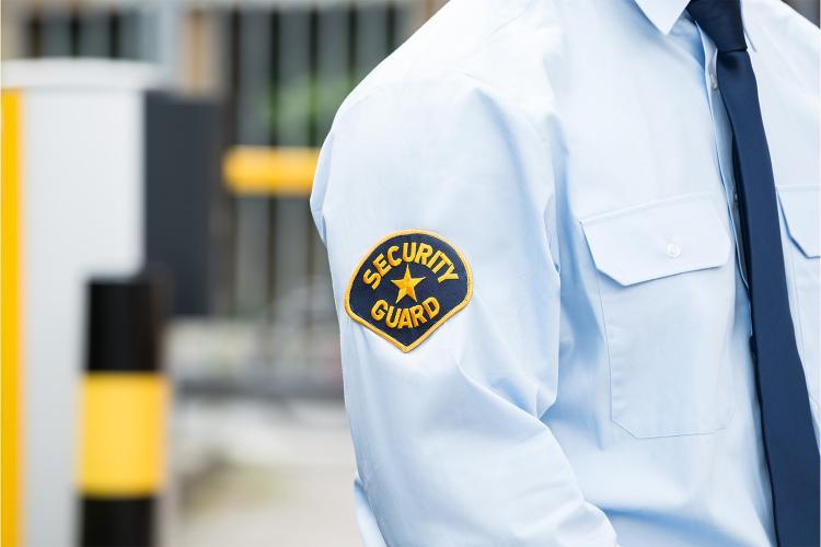 Vigilante de seguridad privada.
