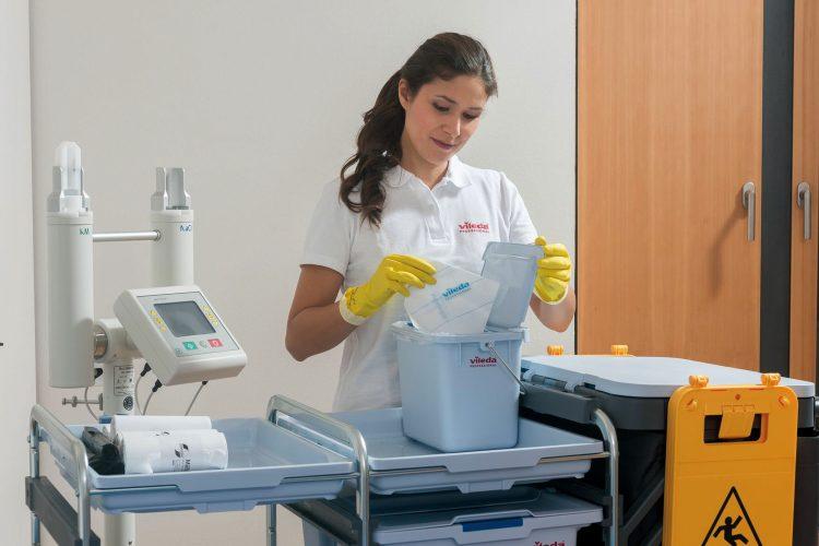 bayetas vileda limpieza desinfección hospitales