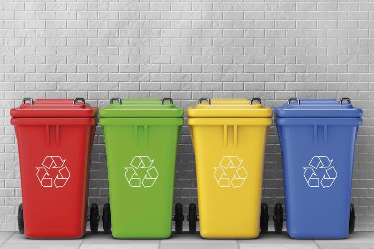 Cubos reciclaje reciclado