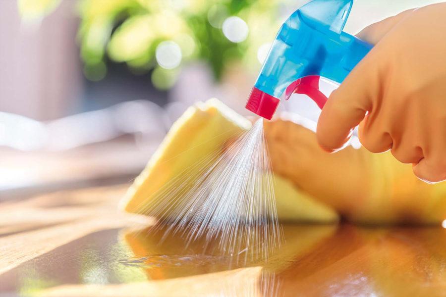 Limpiar y desinfectar.