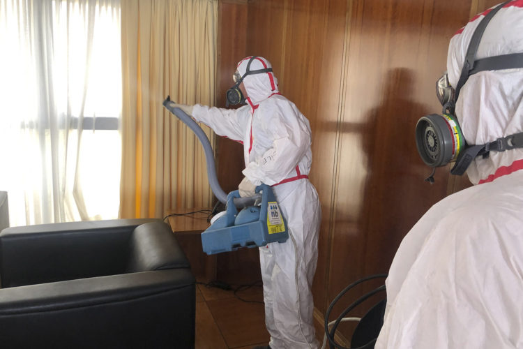 desinfección, nebulización, COVID