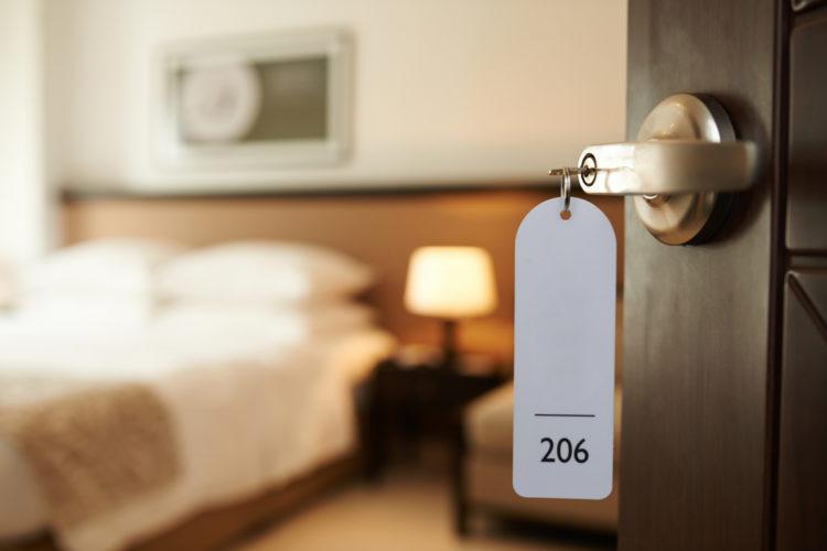 Habitación hotel desinfección