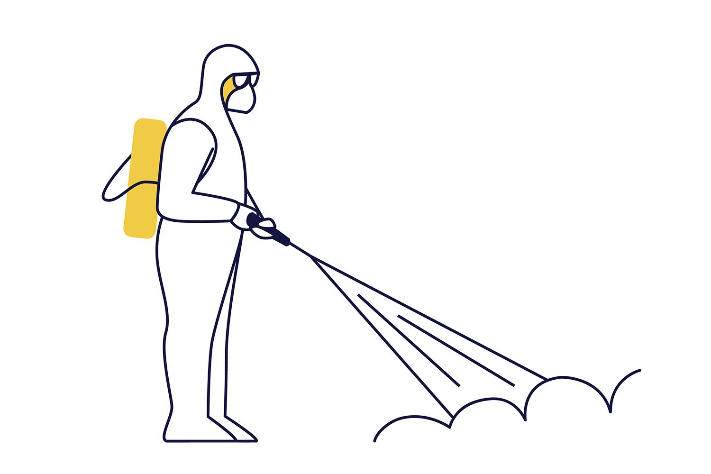 Dibujo desinfección Cleanity