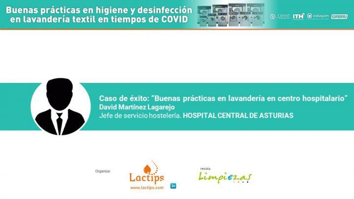 David Martinez. Hospital de Asturias. LIMIEZAS Lavanderia 2021