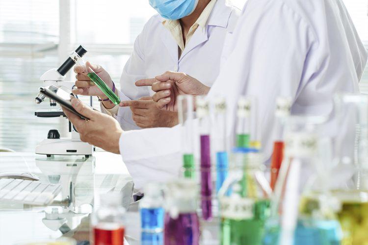 Profesionales químicos, laboratorio, Quimeltia
