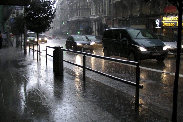 Madrid lluvias limpieza