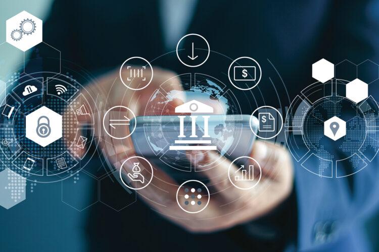 concepto de ciberseguridad bancaria